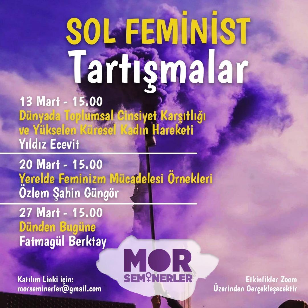 Sol Feminist Tartışmalar: 3 Yeni Söyleşi! – MOR SEMİNERLER
