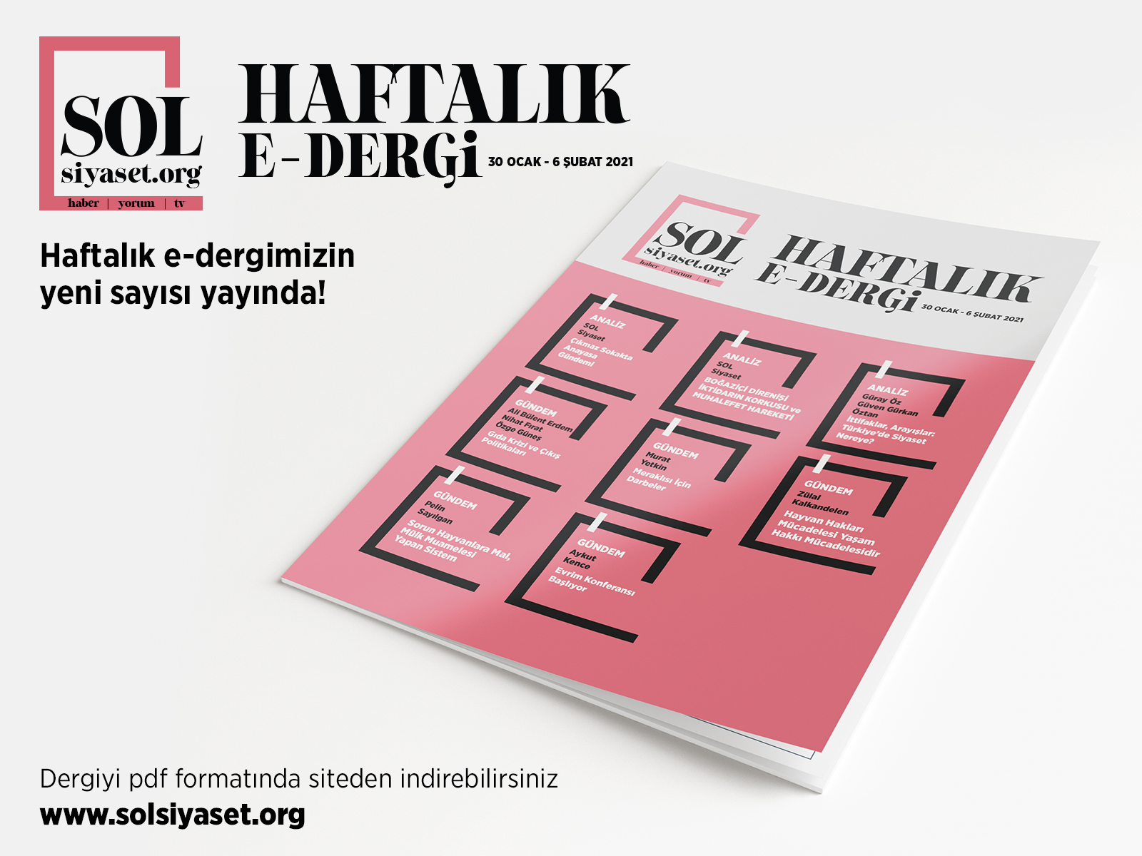SOL Siyaset HAFTALIK e-dergi Sayı: 7