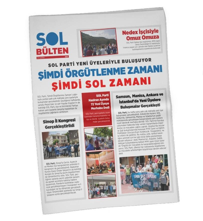 SOL Parti'nin Temmuz Sayılı SOL Bülten'i Yayında!